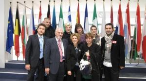 Με τους συνεργάτες του γραφείου στο Ευρωκοινοβούλιο