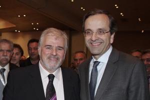 Με τον Αντώνη Σαμαρά στο συνέδριο της ΔΑΚΕ και των Χριστιανοδημοκρατικών Συνδικάτων (2010)