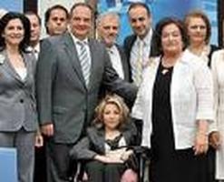 Οι υποψήφιοι ευρωβουλευτές με τον τ. Πρωθυπουργό Κώστα Καραμανλή (2009)