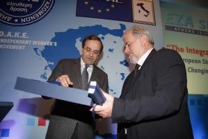 Στο συνέδριο της ΔΑΚΕ και των Χριστιανοδημοκρατικών Συνδικάτων (2010)