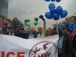 Στη διαδήλωση των ευρωπαϊκών συνδικάτων στις Βρυξέλλες με την αποστολή της ΑΔΕΔΥ (09/2010)