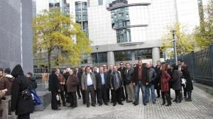 Με τους συνδικαλιστές στο Ευρωκοινοβούλιο (Νοε. '09)